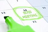 Boss meeting mark — Stock Photo