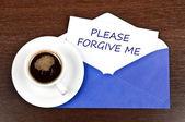 Forgive me message — Stock Photo