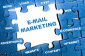Puzzle marketing e-mail — Foto Stock