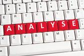 Analyse word on keyboard — Stock Photo
