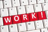 Work word on keyboard — Foto Stock