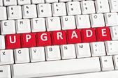 Upgrade word on keyboard — Stock Photo