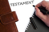 Testament message — Stock Photo