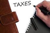 Vzkaz daně — Stock fotografie