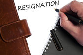 Resignation message — 图库照片