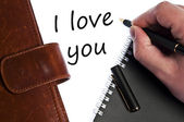 I love you message — Stockfoto