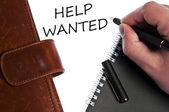 Help wanted message — Stock Photo