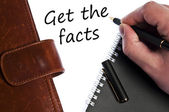 Get the facts message — Stock Photo