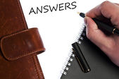 Answers message — Stock fotografie