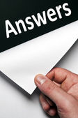 Answers word — Stock Photo