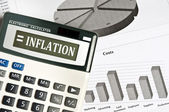 Inflation word — Stock Photo
