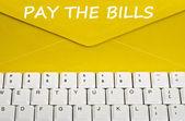 Pagar el mensaje de facturas — Foto de Stock