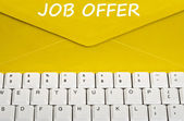 Job offer message — Stock Photo