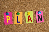 Plan word — Stock Photo