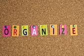 Organize word — Stock Photo