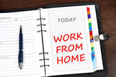 Work from home message — Stock Photo