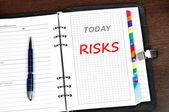 Risks message — Stock Photo