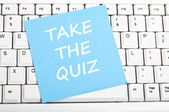 Take the quiz message — Stock Photo