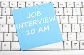Job interview message — Stock Photo