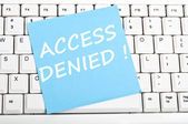 Access denied message — Stock Photo