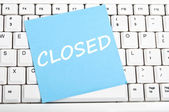 Closed message — Stock Photo