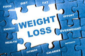 Weight loss puzzle — Stock Photo
