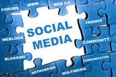 Sociala medier pussel — Stockfoto