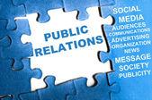 Public relations puzzle — Stock Photo
