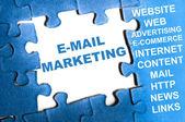 E-mail marketing puzzle — Stock Photo