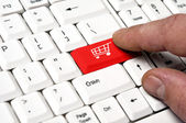 Supermarket cart key — Foto Stock