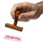 Confidential stamp — Stock Photo