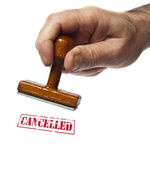 Cancelled stamp — Stock Photo