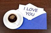 Sana mesaj seviyorum — Stok fotoğraf