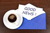 Good news message — Stock Photo