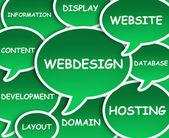 Nuage de webdesign — Photo