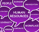 Human Resources cloud — Stock Photo