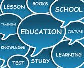 Education cloud — Stock Photo