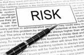 Risk word — Foto de Stock