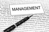 Management word — 图库照片