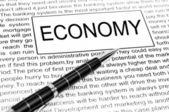 Palabra economía — Foto de Stock