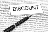 Discount word — Stockfoto