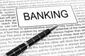 Banking word — Stock Photo