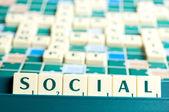 Social word — Stock Photo