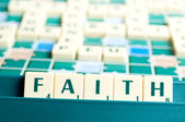 Faith word — Stock Photo