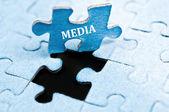 Rompecabezas de los medios de comunicación — Foto de Stock