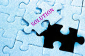 Solution puzzle — Stock Photo