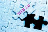 Web 2.0 puzzle — Stock Photo