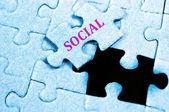 Social puzzle — Stock Photo