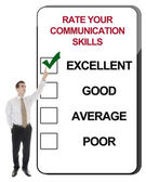 Rate your communication skils — Stock Photo