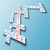 Question on crossword — Stock Photo